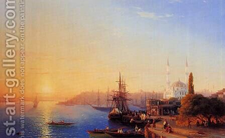 Panorama of Constantinopole by Ivan Konstantinovich Aivazovsky - Reproduction Oil Painting