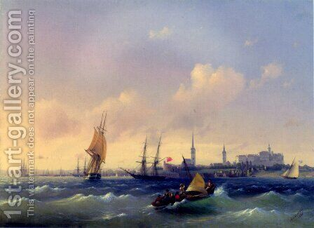Reval (heute Tallinn) in Estland by Ivan Konstantinovich Aivazovsky - Reproduction Oil Painting