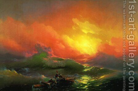 The Ninth Wave (1850) by Ivan Konstantinovich Aivazovsky - Reproduction Oil Painting