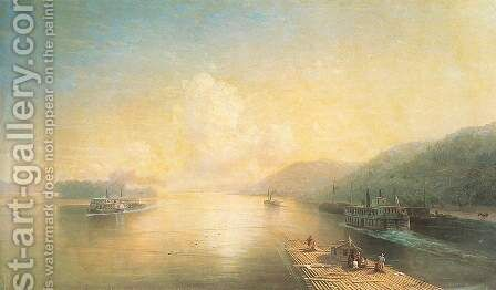 Volga near Zhiguli by Ivan Konstantinovich Aivazovsky - Reproduction Oil Painting