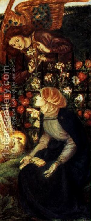 The Annunciation 1 by Dante Gabriel Rossetti - Reproduction Oil Painting