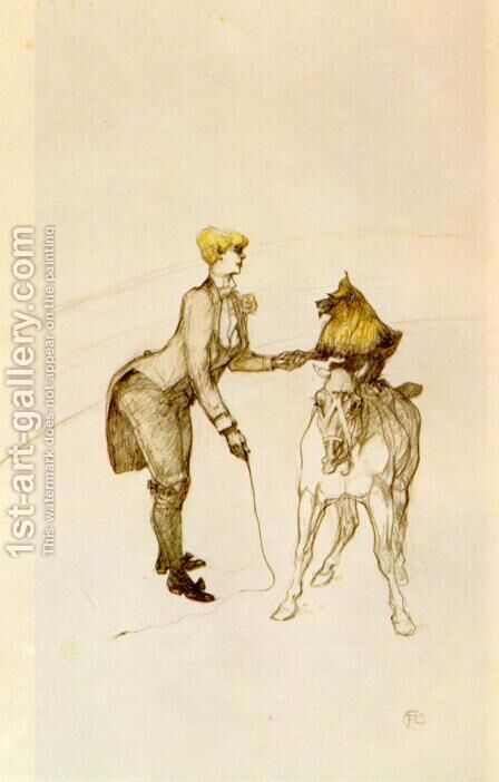 At the Circus, The Animal Trainer by Toulouse-Lautrec - Reproduction Oil Painting