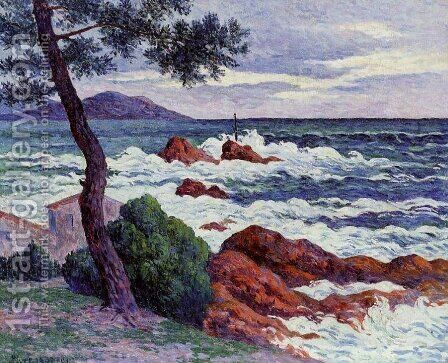 Ile de Groux 3 by Henri Moret - Reproduction Oil Painting