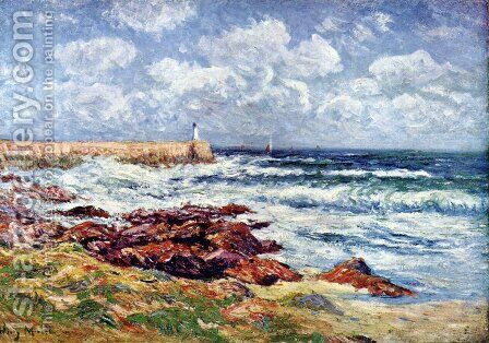 The lighthouse by Henri Moret - Reproduction Oil Painting