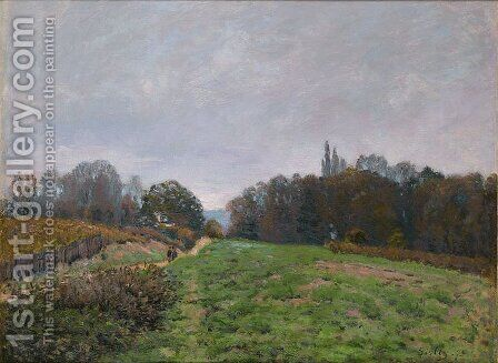 Landscape at Louveciennes 2 by Alfred Sisley - Reproduction Oil Painting