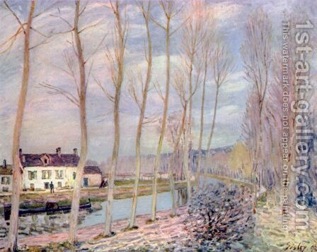 Loing-Kanal by Alfred Sisley - Reproduction Oil Painting