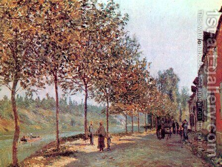 Morning in June (also known as Saint-Mammes et les Coteaux de la Celle) by Alfred Sisley - Reproduction Oil Painting