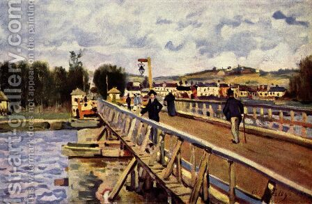 Passerelle d'Argenteuil by Alfred Sisley - Reproduction Oil Painting