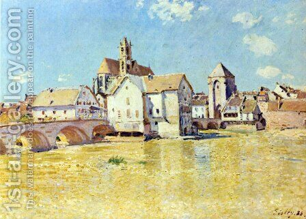 Pont de Moret dans le soleil du matin by Alfred Sisley - Reproduction Oil Painting