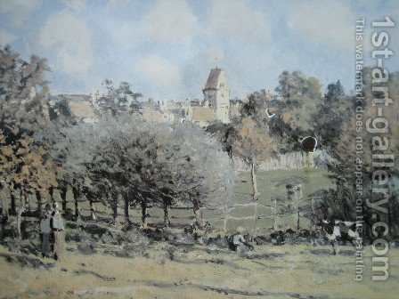 Saint Lubin by Alfred Sisley - Reproduction Oil Painting