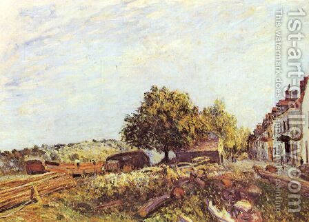 Saint-Mammès am Morgen by Alfred Sisley - Reproduction Oil Painting