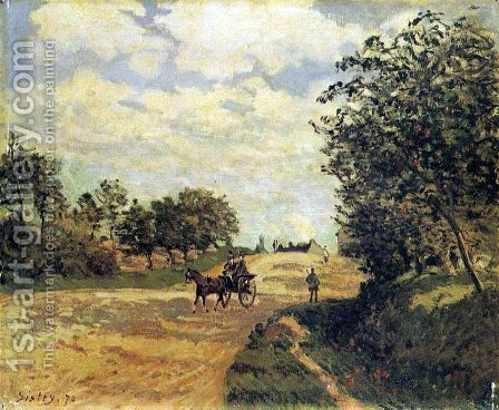 The Road from Mantes to Choisy-le-Roi by Alfred Sisley - Reproduction Oil Painting