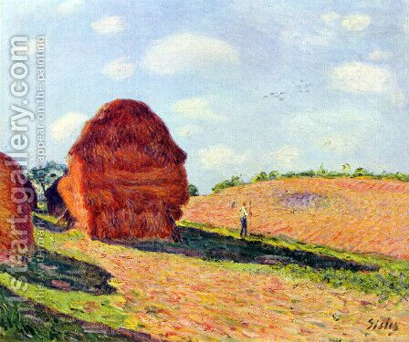 The straw rents by Alfred Sisley - Reproduction Oil Painting