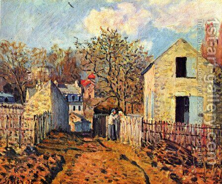 Village de Voisins by Alfred Sisley - Reproduction Oil Painting