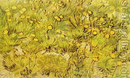 A Field of Yellow Flowers by Vincent Van Gogh - Reproduction Oil Painting