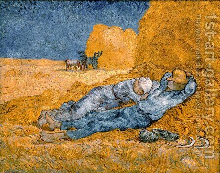 La Méridienne 1889 by Vincent Van Gogh - Reproduction Oil Painting