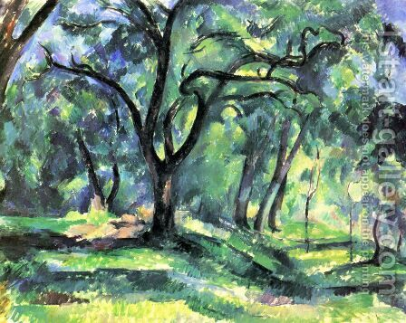Small forest by Paul Cezanne - Reproduction Oil Painting