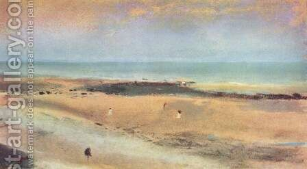 Beach at Ebbe by Edgar Degas - Reproduction Oil Painting