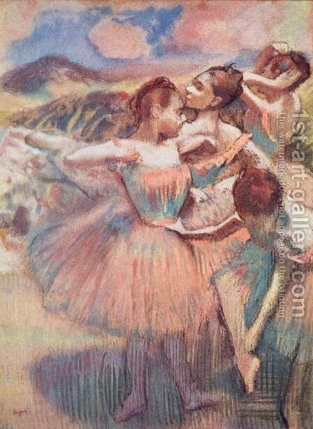Dancers in a landscape by Edgar Degas - Reproduction Oil Painting