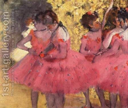 Dancers in Pink 2 by Edgar Degas - Reproduction Oil Painting