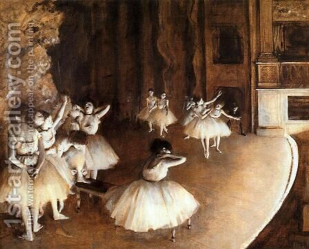 General sample of the Balletts on the stage by Edgar Degas - Reproduction Oil Painting