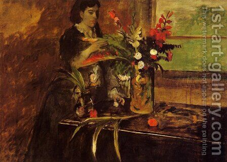 Madame Rene De Gas by Edgar Degas - Reproduction Oil Painting