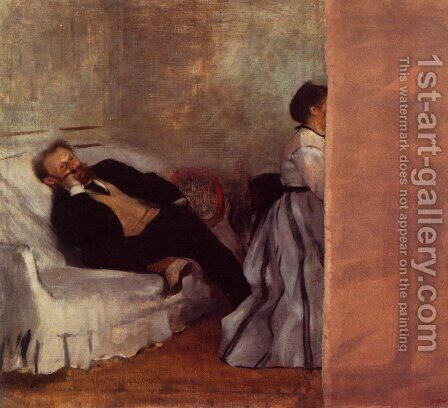 Portrait of Edouard Manet by Edgar Degas - Reproduction Oil Painting