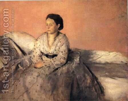 Portrait of Estelle Musson, Madame Rene de Gas by Edgar Degas - Reproduction Oil Painting