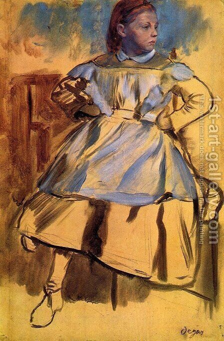 Portrait of Giulia Belleli 2 by Edgar Degas - Reproduction Oil Painting