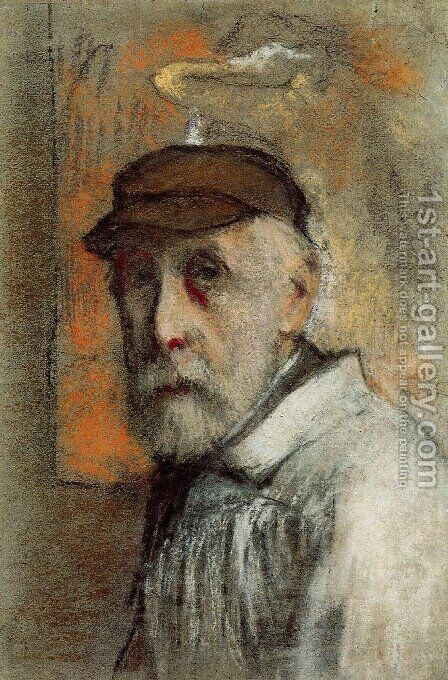 Self Portrait 3 by Edgar Degas - Reproduction Oil Painting