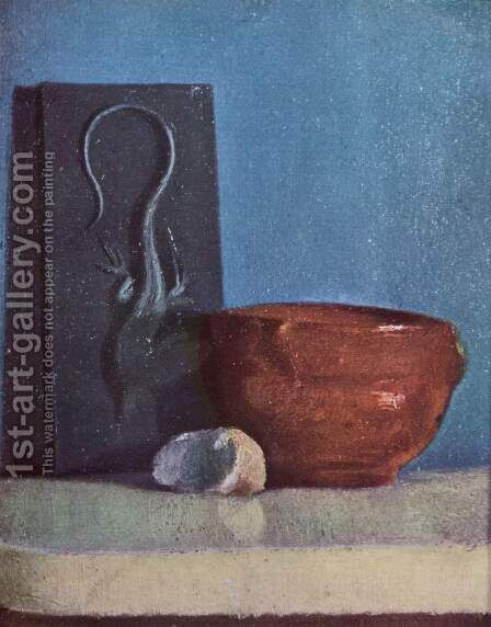 Still life with lizard by Edgar Degas - Reproduction Oil Painting