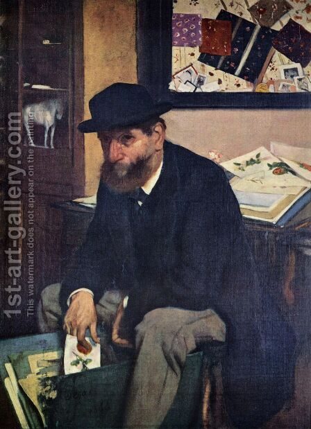The Collector of Prints by Edgar Degas - Reproduction Oil Painting