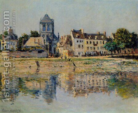 By the River at Vernon by Claude Oscar Monet - Reproduction Oil Painting