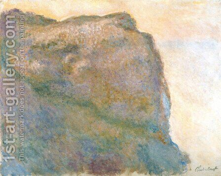 Cliff at Petit Ailly in Grey Weather by Claude Oscar Monet - Reproduction Oil Painting