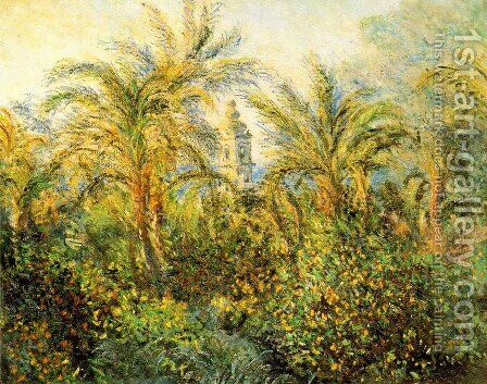 Garden in Bordighera, Impression of Morning [1884] by Claude Oscar Monet - Reproduction Oil Painting