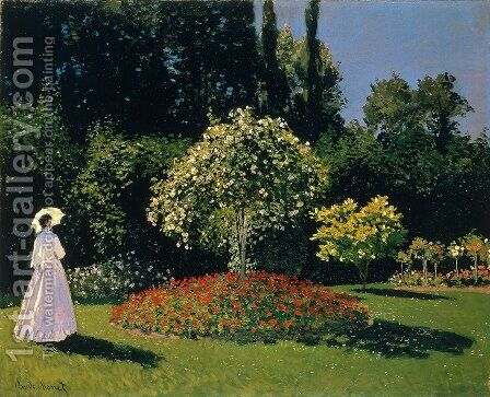 Lady In A Garden, 1867 by Claude Oscar Monet - Reproduction Oil Painting