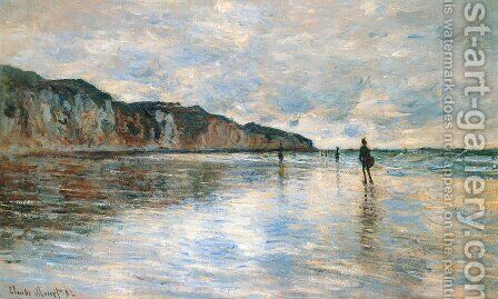 Low Tide at Pourville 2 by Claude Oscar Monet - Reproduction Oil Painting