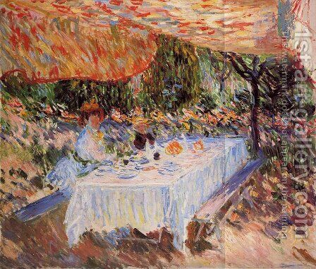 Luncheon under the Tent by Claude Oscar Monet - Reproduction Oil Painting