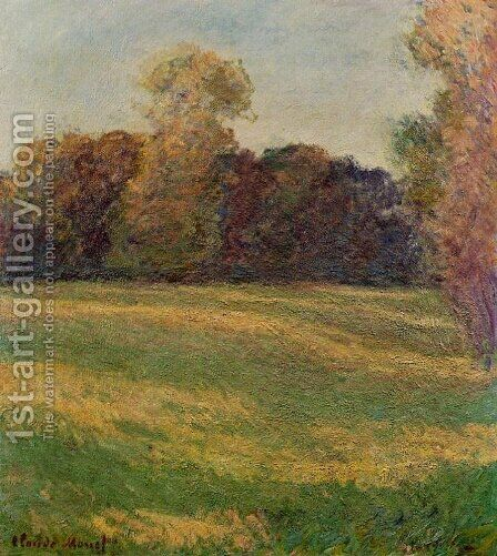 Meadow in the Sun by Claude Oscar Monet - Reproduction Oil Painting