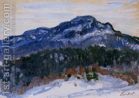 Mount Kolsaas 1 by Claude Oscar Monet - Reproduction Oil Painting