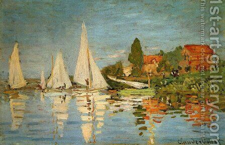 Regatta at Argenteuil 1 by Claude Oscar Monet - Reproduction Oil Painting