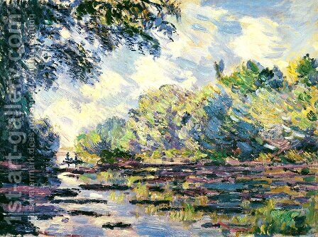 Section of the Seine, near Giverny by Claude Oscar Monet - Reproduction Oil Painting
