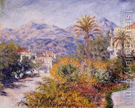 Strada Romana in Bordighera by Claude Oscar Monet - Reproduction Oil Painting