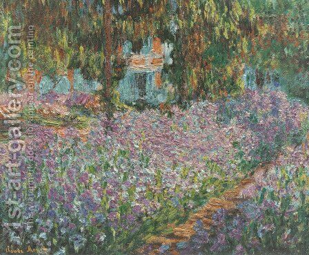 The Artist's Garden at Giverny by Claude Oscar Monet - Reproduction Oil Painting