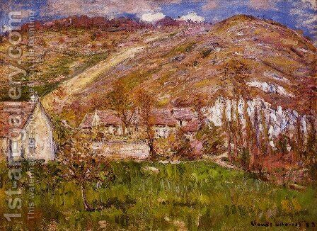 The Hamlet of Falaise, near Giverny by Claude Oscar Monet - Reproduction Oil Painting