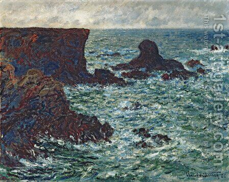 The Lion Rock, Belle-Ile by Claude Oscar Monet - Reproduction Oil Painting