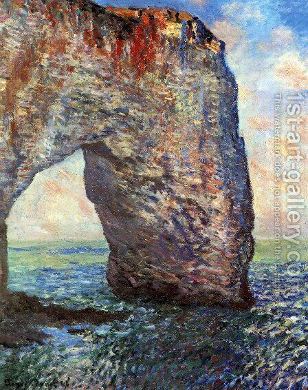 The Manneport, Etretat by Claude Oscar Monet - Reproduction Oil Painting