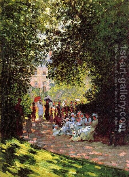 The Parc Monceau, Paris 2 by Claude Oscar Monet - Reproduction Oil Painting