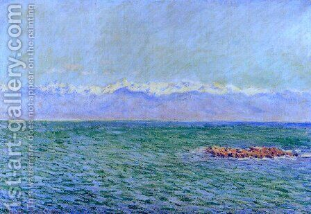 The Sea and the Alps by Claude Oscar Monet - Reproduction Oil Painting