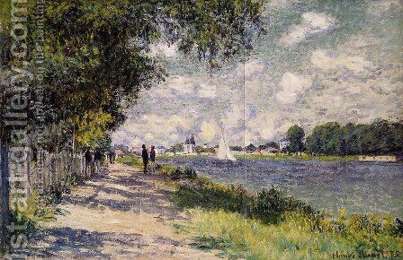 The Seine at Argenteuil 4 by Claude Oscar Monet - Reproduction Oil Painting